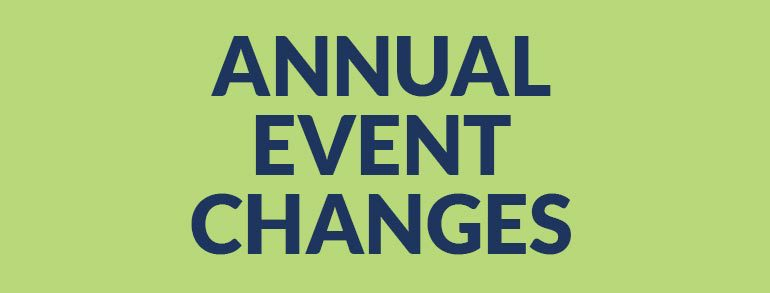 Annual Event Changes
