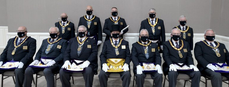Grand Lodge Officers Installed for 2021