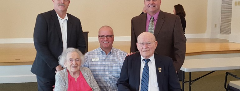 WRMC Resident Receives 70 Year Pin
