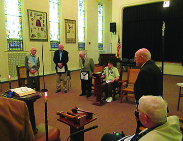 Residents form Lodge of Instruction