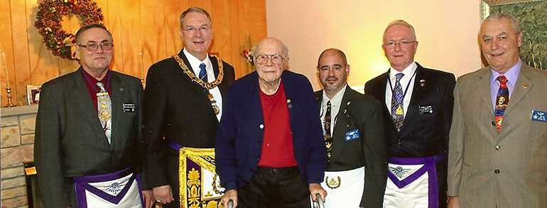 Brother Homrighouse Honored For 75 Years Of Masonic Membership